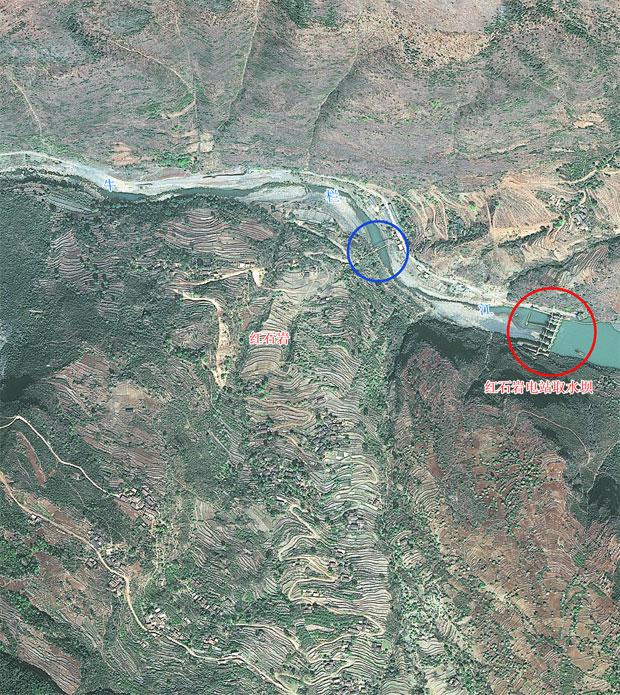震後影像<br/>無人機影像,獲取時間:2014年8月4日13時
