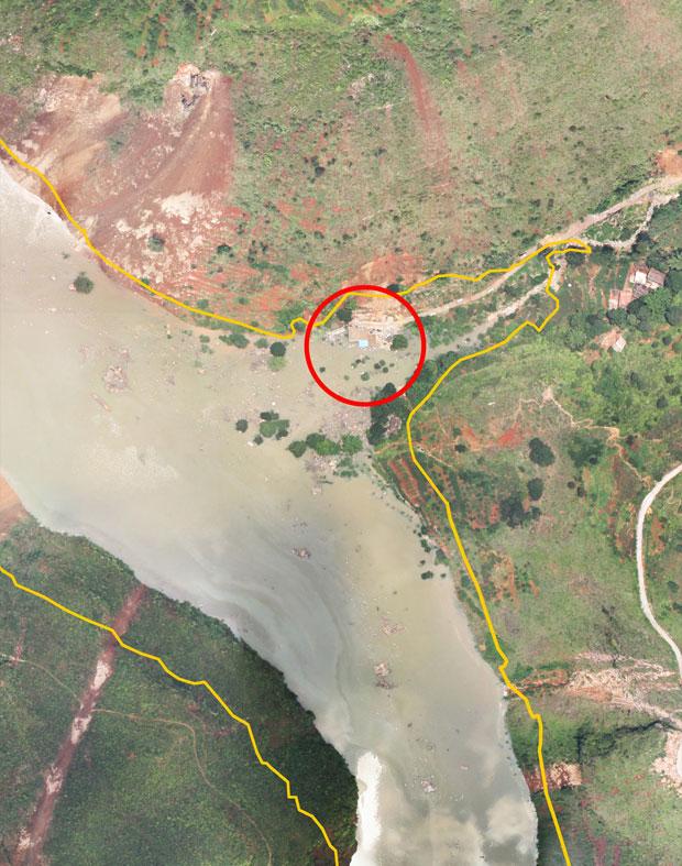 2014年8月4日14時獲取的無人機影像